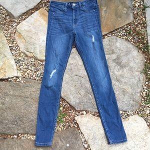 HOLLISTER Distressed High-Rise Jean Legging